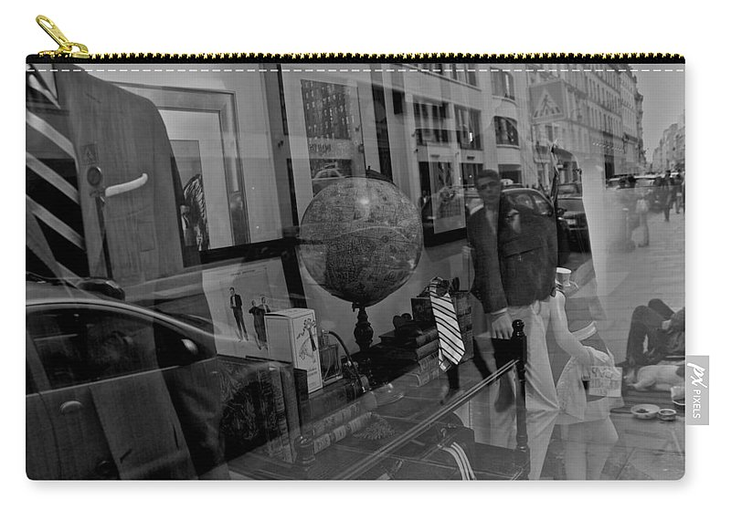 France Carry-all Pouch featuring the photograph Reflections On The World by Eric Tressler
