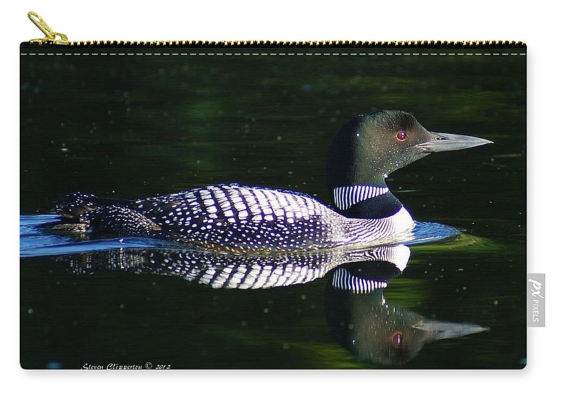 Loon Carry-all Pouch featuring the photograph Reflections by Steven Clipperton