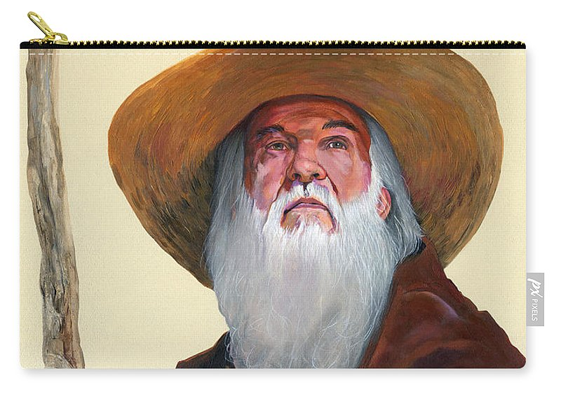 Wanderer Carry-all Pouch featuring the painting Remembering When by J W Baker