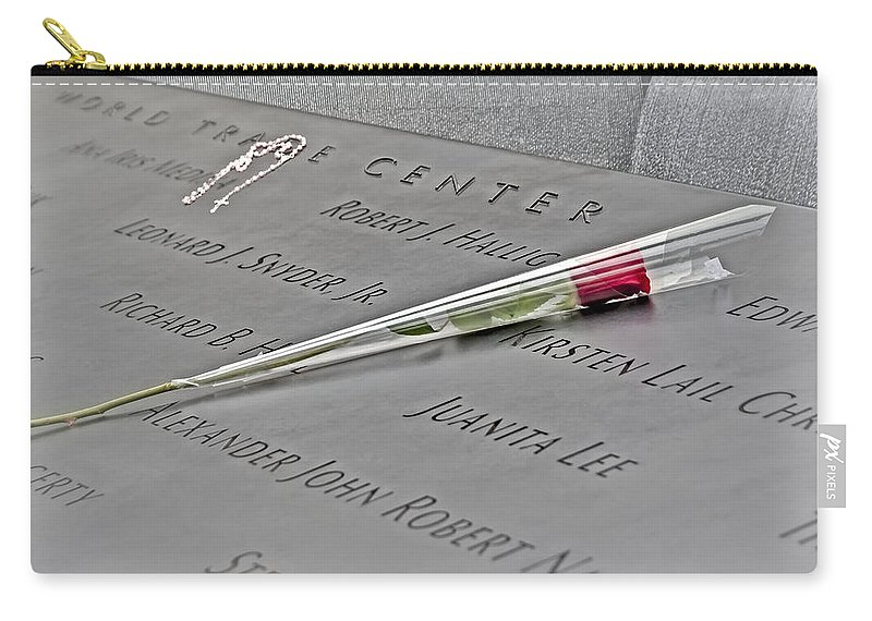 World Trade Center Memorial Carry-all Pouch featuring the photograph Remembrance by Susan Candelario