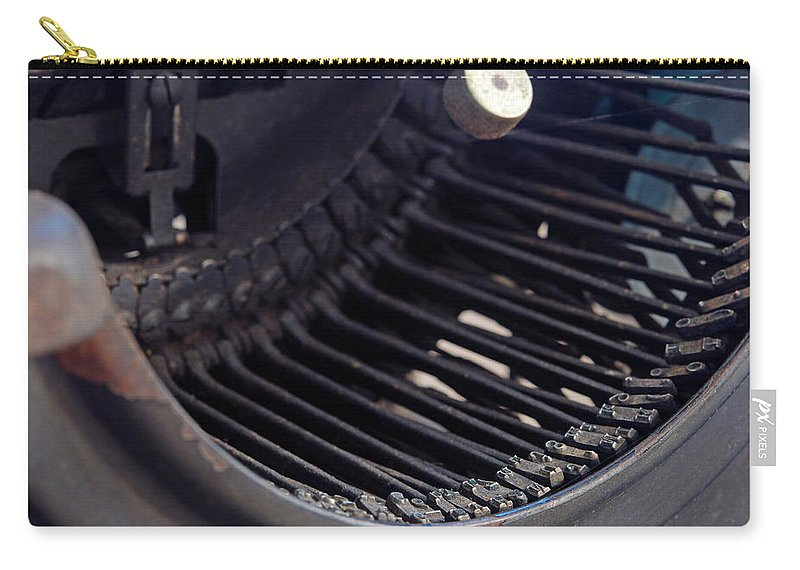 Typewriter Carry-all Pouch featuring the photograph Remington 11 Detail by Kay Lovingood