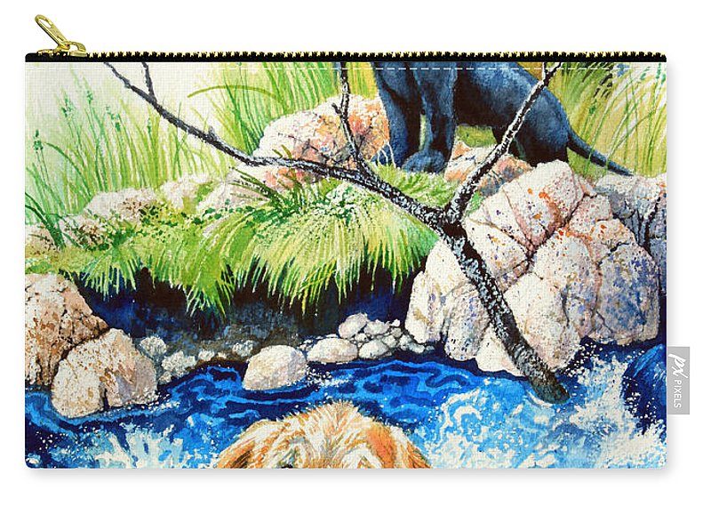 Children Book Illustrator Carry-all Pouch featuring the painting Rescue Me by Hanne Lore Koehler