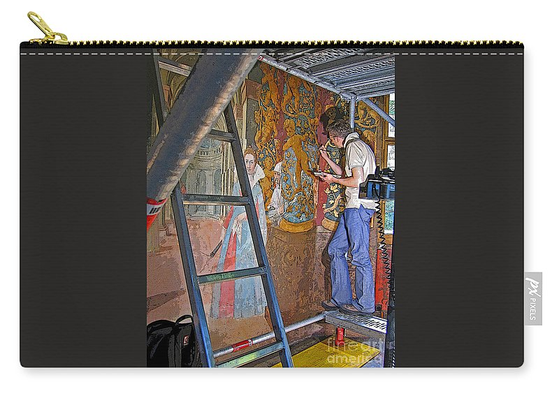 Art Carry-all Pouch featuring the photograph Restoring Art by Ann Horn