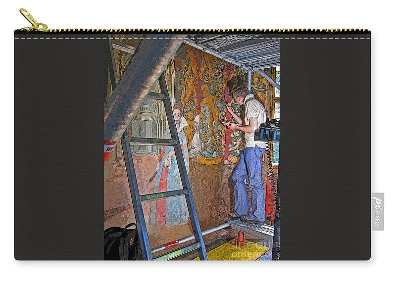 Art Carry-all Pouch featuring the photograph Restoring Art by Ann Horn