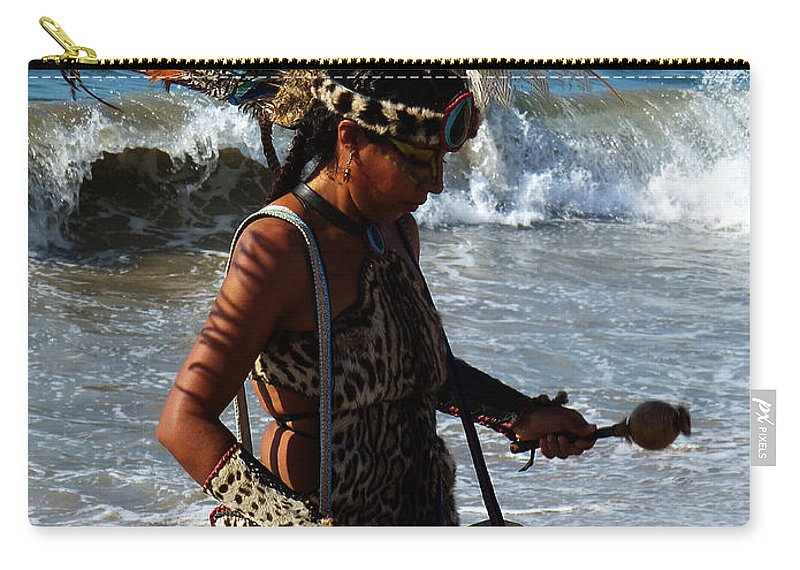 American Indians Tribes Carry-all Pouch featuring the photograph Rhythm Of The Ocean by Xueling Zou