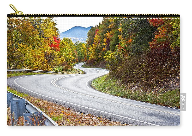 Mountain Carry-all Pouch featuring the photograph Ribbon Road by Betsy Knapp