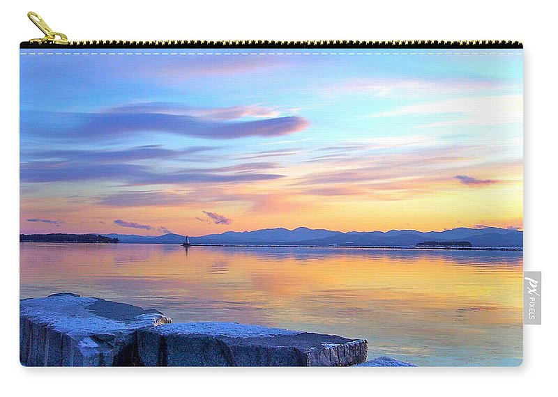 Lake Champlain Carry-all Pouch featuring the photograph Ribbons In The Sky by Mike Reilly