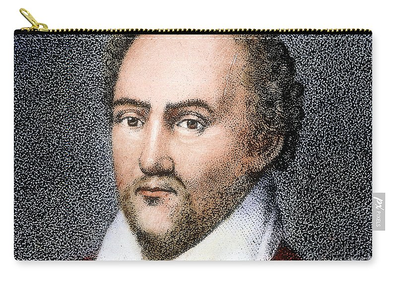 Actor Carry-all Pouch featuring the photograph Richard Burbage by Granger
