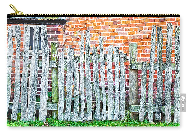 Border Carry-all Pouch featuring the photograph Rickety Fence by Tom Gowanlock