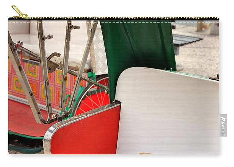 Rickshaw Carry-all Pouch featuring the photograph Rickshaw by Valentino Visentini