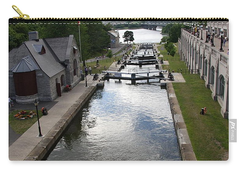 Canal Carry-all Pouch featuring the photograph Rideau Canal And Locks - Ottawa by Christiane Schulze Art And Photography