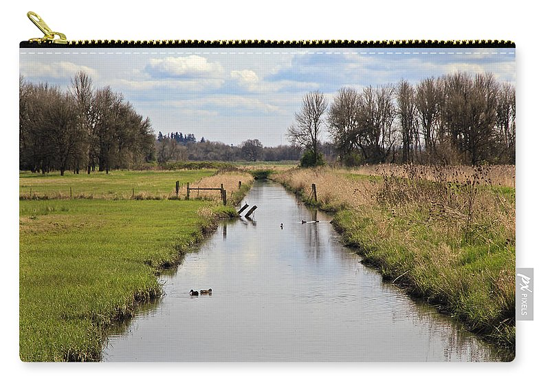 Ridgefield Wildlife Reserse Carry-all Pouch featuring the photograph Ridgefield Reserve Landscape by Athena Mckinzie