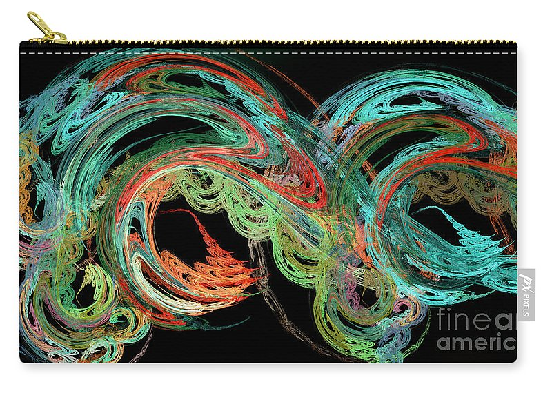 3d Carry-all Pouch featuring the digital art Riding The Rainbow by Andee Design