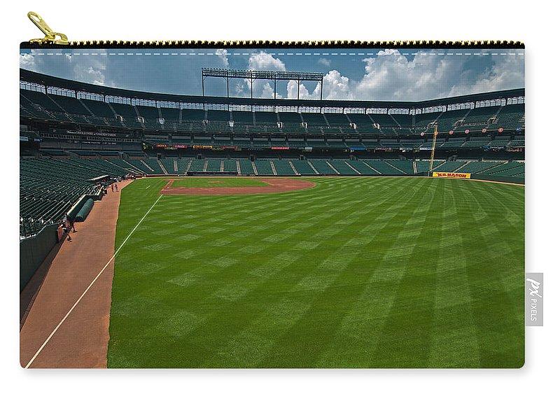 oriole Park Carry-all Pouch featuring the Right Field Of Oriole Park At Camden Yard by Paul Mangold