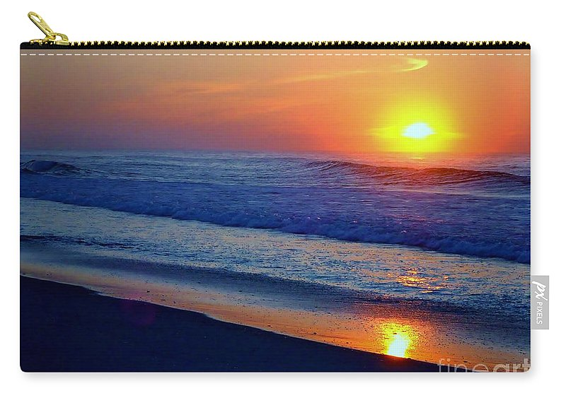 Sunrise Carry-all Pouch featuring the photograph Right Hand Sun by Art Dingo