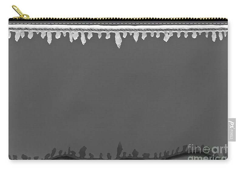 Winter Carry-all Pouch featuring the photograph Rimy Rope 1 by Heiko Koehrer-Wagner
