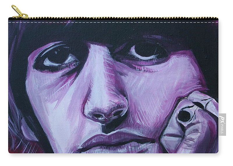 Beatles Carry-all Pouch featuring the painting Ringo Star by Kate Fortin