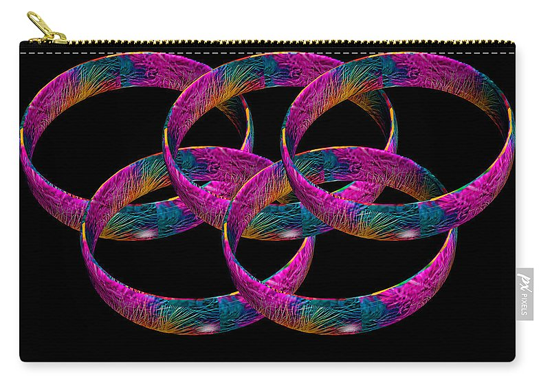 Marabou Feather Carry-all Pouch featuring the photograph Rings by Steve Purnell