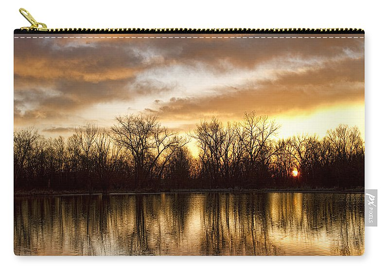 Sunrise Carry-all Pouch featuring the photograph Rising Sun At Crane Hollow by James BO Insogna