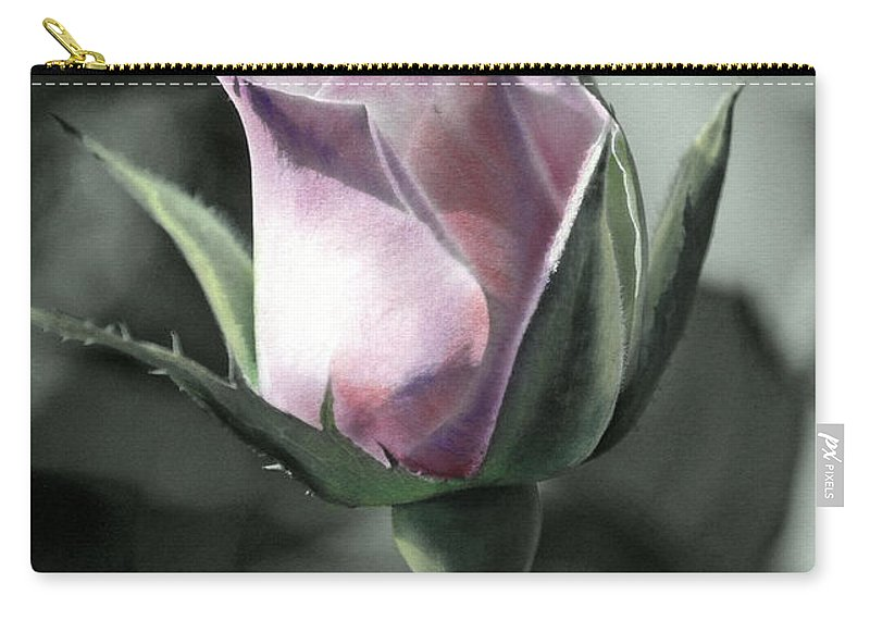 Florals Carry-all Pouch featuring the photograph Rita Rose by Linda Dunn