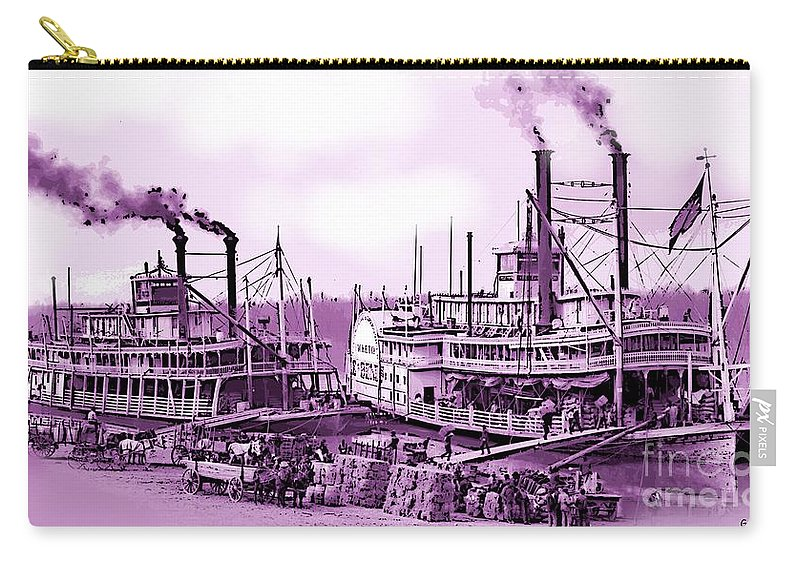 Antique Carry-all Pouch featuring the photograph River Boats by George Pedro