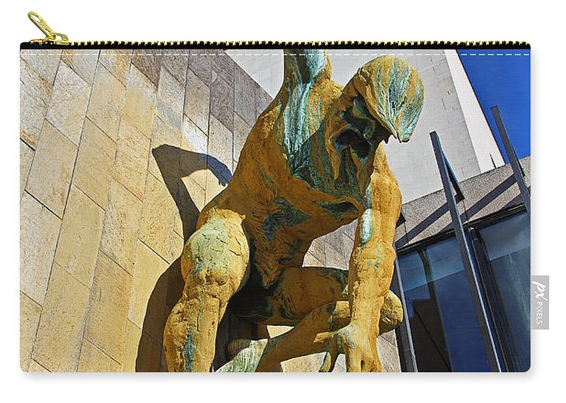 River God Tyne Carry-all Pouch featuring the photograph River God Tyne Sculpture IIi by David Pringle