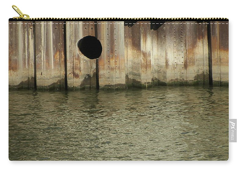 Rust Carry-all Pouch featuring the photograph River In The City 1 by Anita Burgermeister