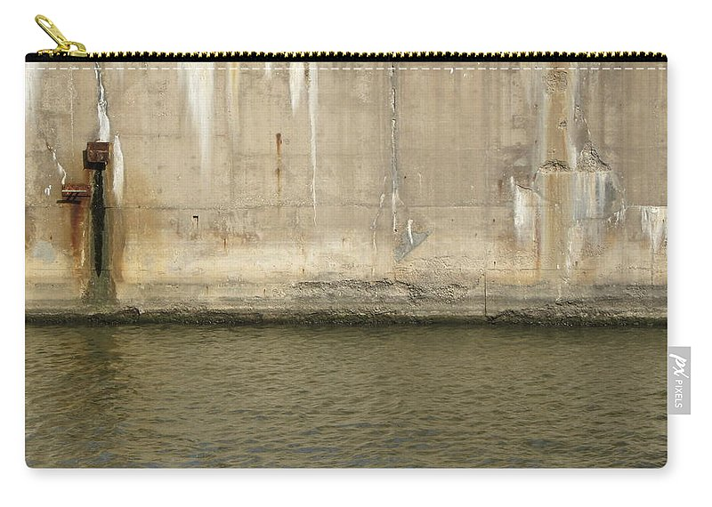 Concrete Carry-all Pouch featuring the photograph River In The City 2 by Anita Burgermeister