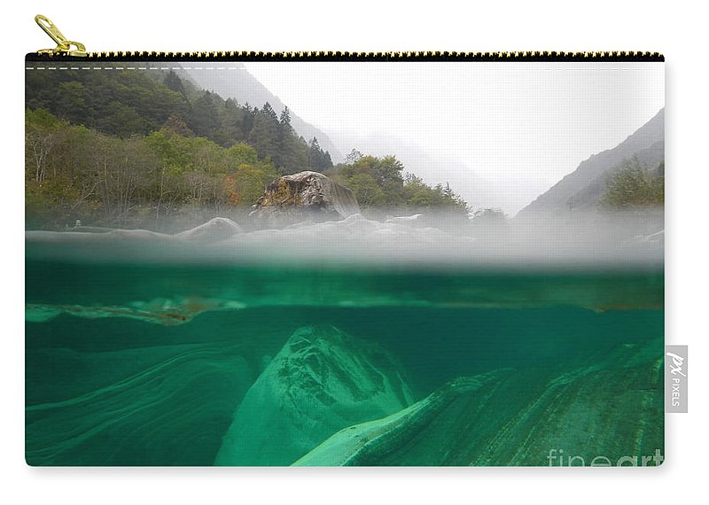 Under The Water Carry-all Pouch featuring the photograph River by Mats Silvan