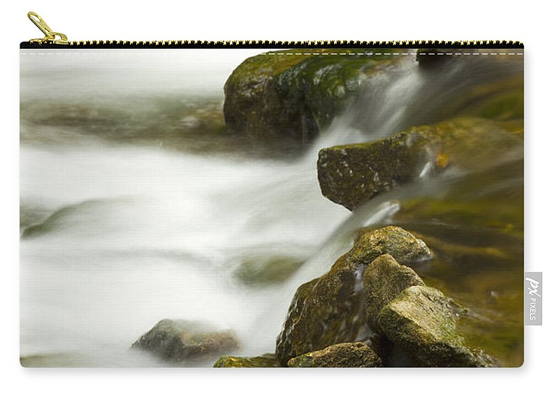 Whitewater Carry-all Pouch featuring the photograph River Rapid 6 by John Brueske