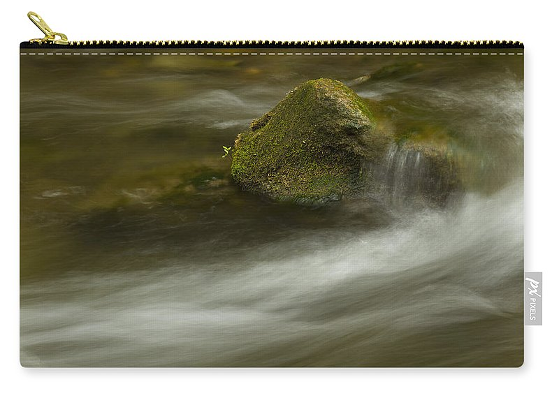 Whitewater Carry-all Pouch featuring the photograph River Rapid 7 by John Brueske