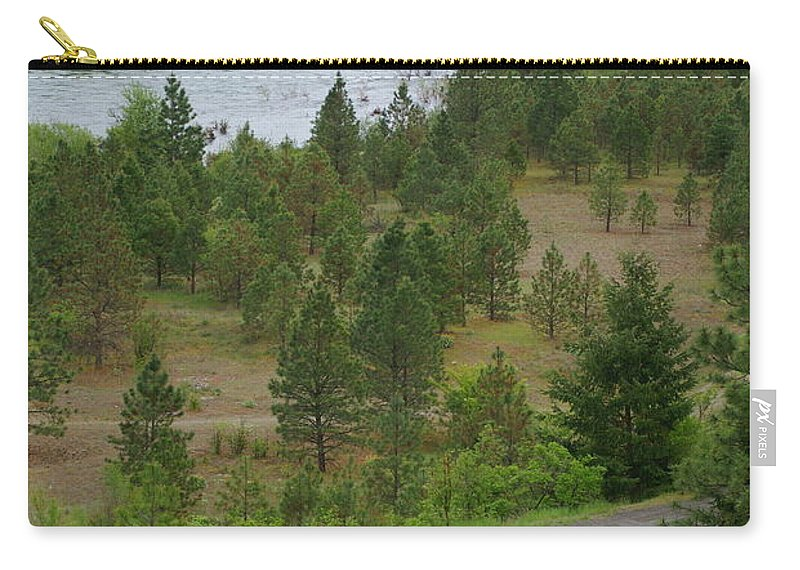 River Carry-all Pouch featuring the photograph River Road by Ben Upham III