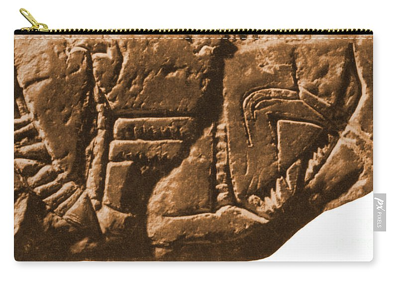 Historic Carry-all Pouch featuring the photograph Riverboat On Ancient Seal by Science Source
