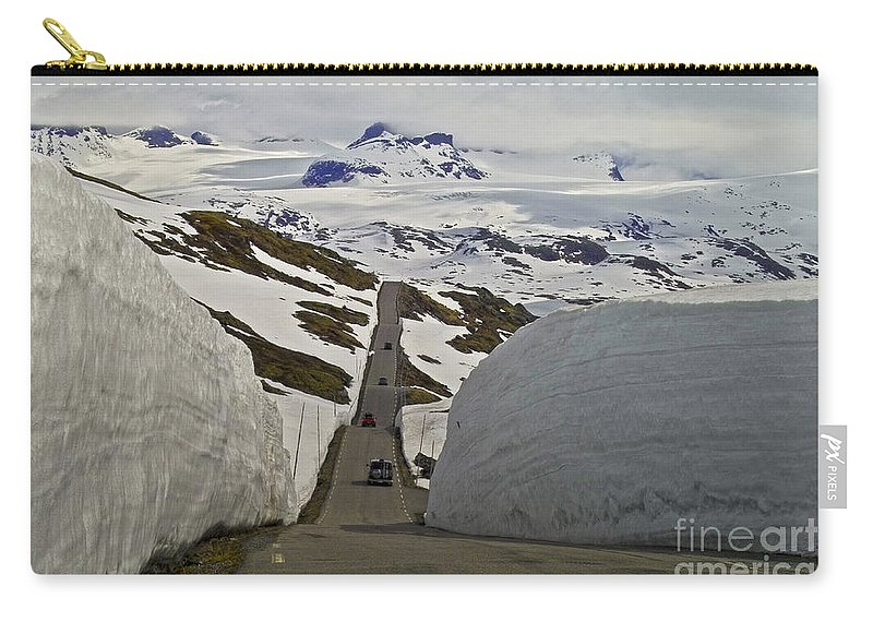 Europe Carry-all Pouch featuring the photograph Road To Nowhere by Heiko Koehrer-Wagner