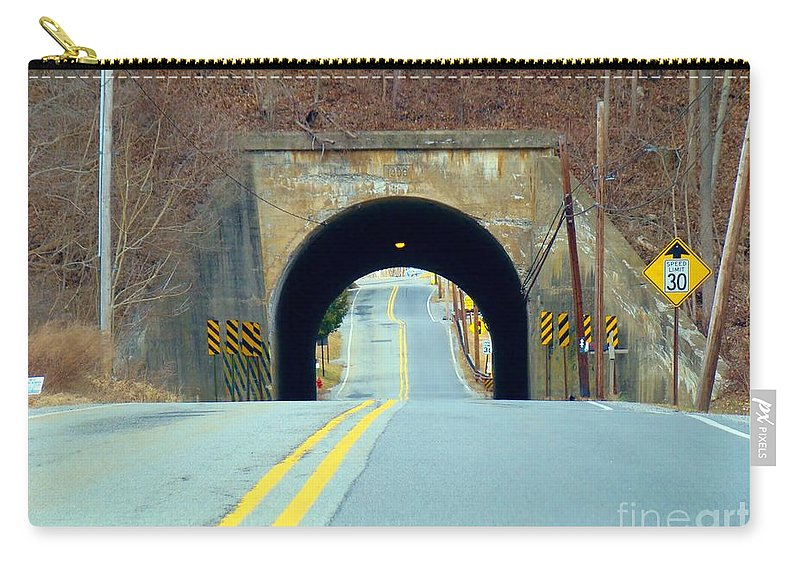 Tunnel Carry-all Pouch featuring the photograph Road To Nowhere by Art Dingo