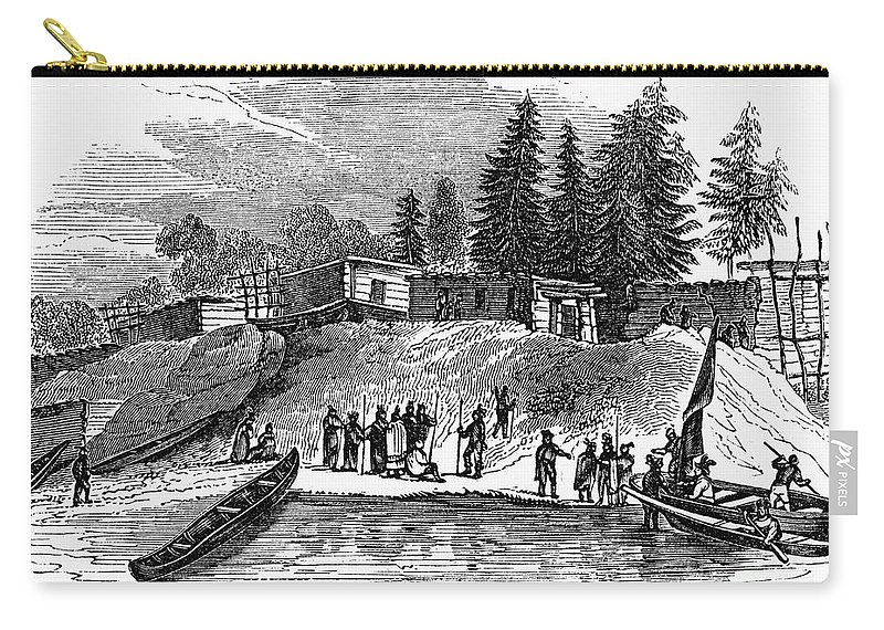 1587 Carry-all Pouch featuring the photograph Roanoke: Colony, C1587 by Granger
