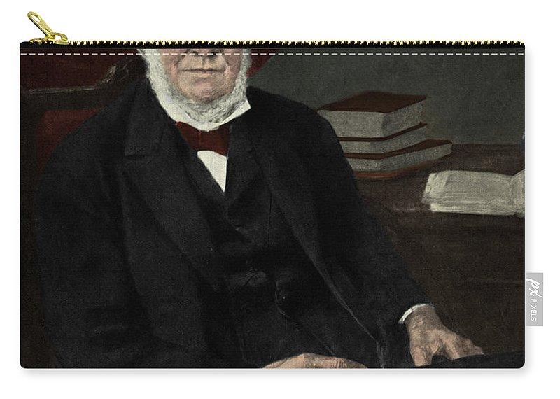 Robert Wilhelm Bunsen Carry-all Pouch featuring the photograph Robert Bunsen, German Chemist by Photo Researchers