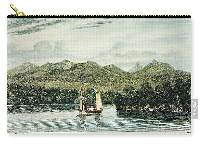 1807 Carry-all Pouch featuring the photograph Robert Fultons Clermont by Granger
