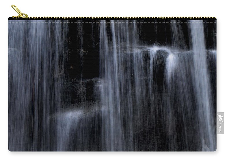Water Falls Carry-all Pouch featuring the photograph Rock Glen Water Falls by Ronald Grogan