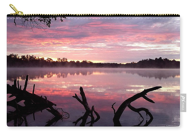 Lake Carry-all Pouch featuring the photograph Rock Lake by Brenda Hagenson