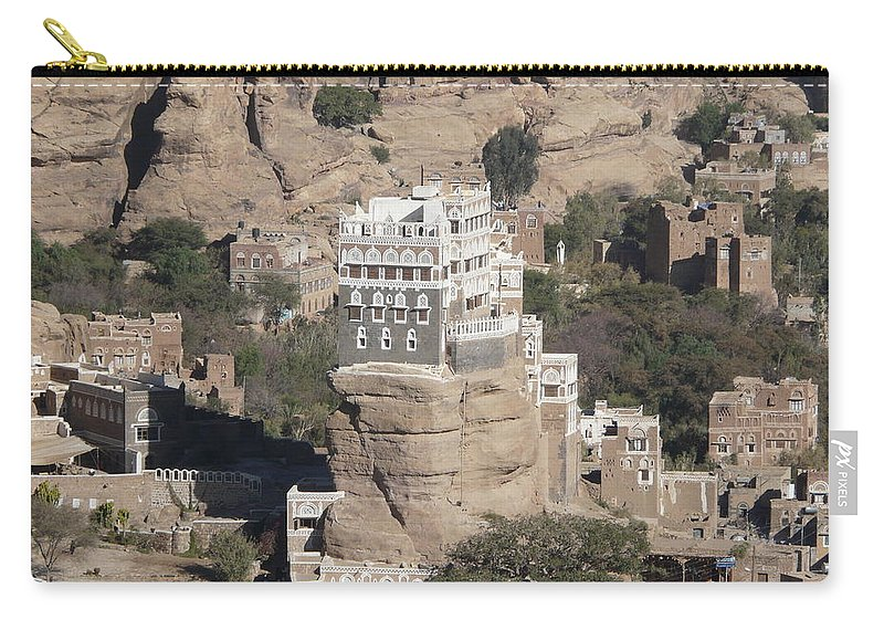 Rock Carry-all Pouch featuring the photograph Rock Palace by Ivan Slosar