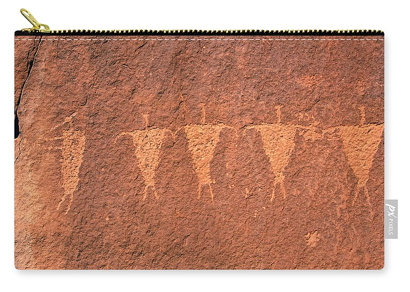 Fine Art Photography Carry-all Pouch featuring the photograph Rock Star Circa 1200 Ad by David Lee Thompson