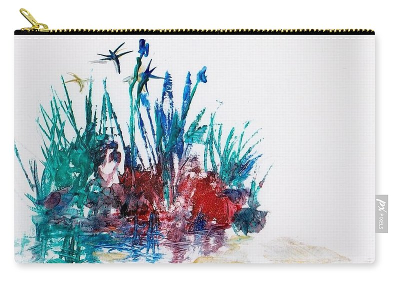 Rocks Carry-all Pouch featuring the painting Rockpool by Angelina Whittaker Cook