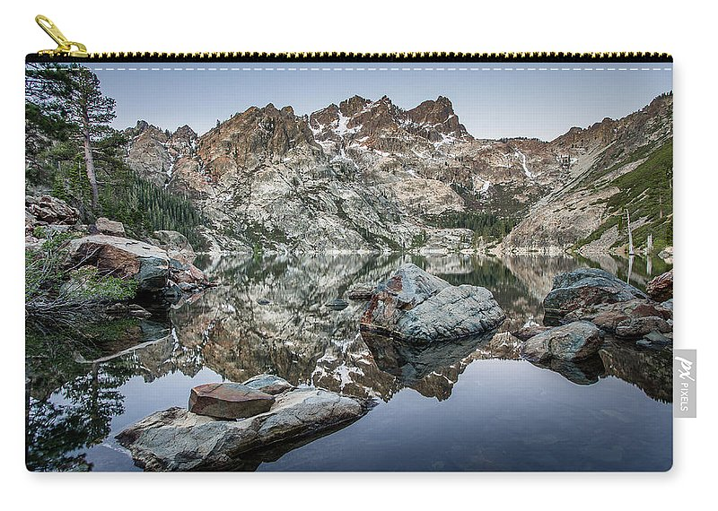 Sierra Carry-all Pouch featuring the photograph Rocks And Reflections by Greg Nyquist