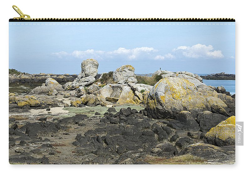 Normandy Carry-all Pouch featuring the photograph Rocks At Low Tide Iles Chausey by Gary Eason