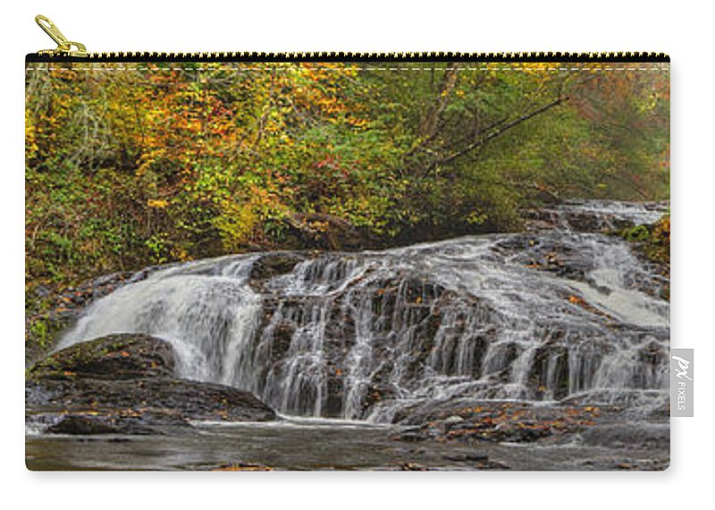 Appalachia Carry-all Pouch featuring the photograph Rocky Cascade by Debra and Dave Vanderlaan