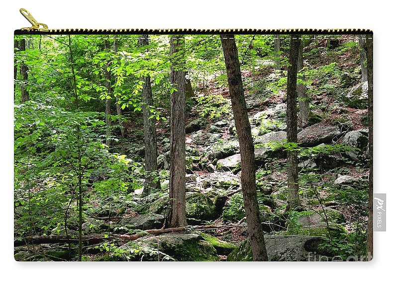 Forest Carry-all Pouch featuring the photograph Rocky Forest Of Chatfield by Meandering Photography