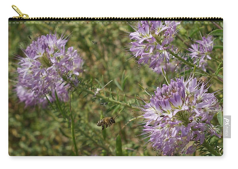 Flowers Carry-all Pouch featuring the photograph Rocky Mountain Bee Plant by Ernie Echols