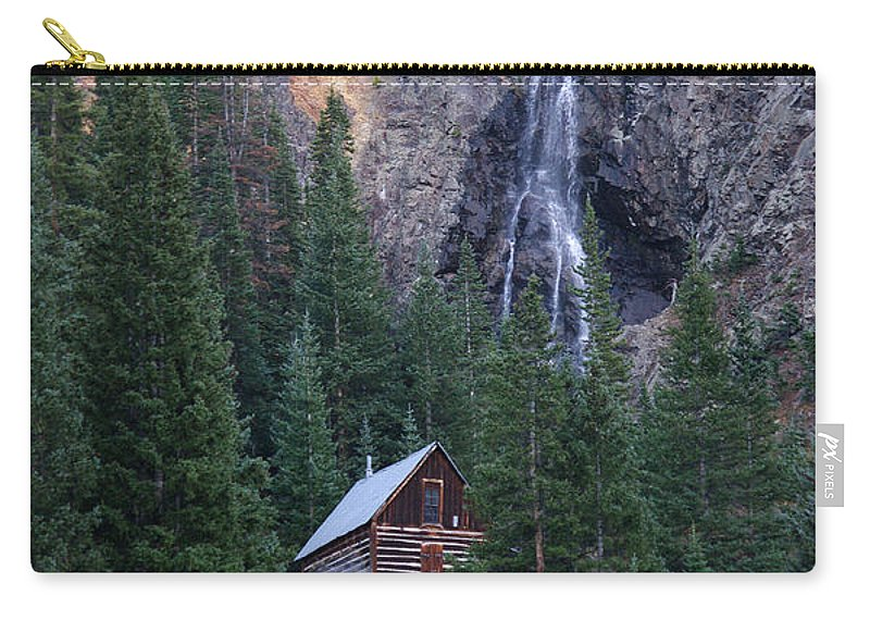 Mountain Carry-all Pouch featuring the photograph Rocky Mountain Hideaway by Vicki Pelham