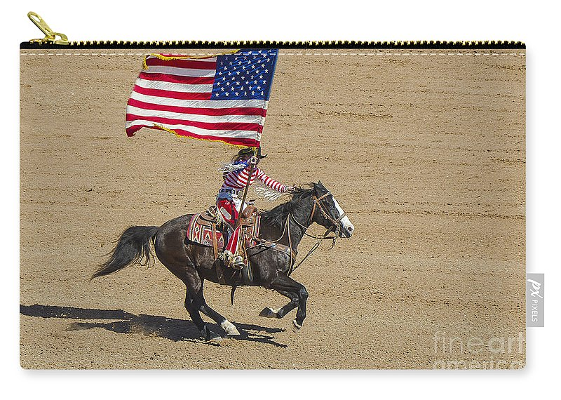 Rodeo Carry-all Pouch featuring the photograph Rodeo Colors - A by Larry White